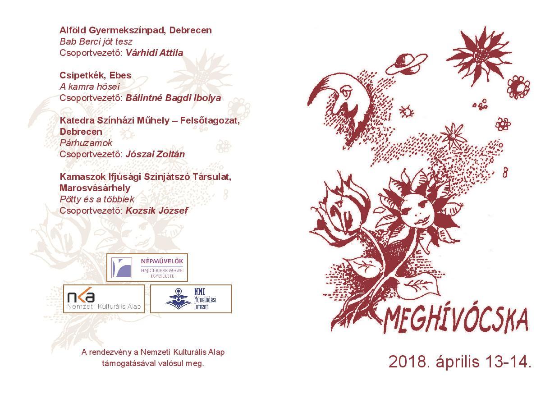 Meghívócska - 2018. XXVII. Weöres Sándor Országos Gyermekszínjátszó Találkozó